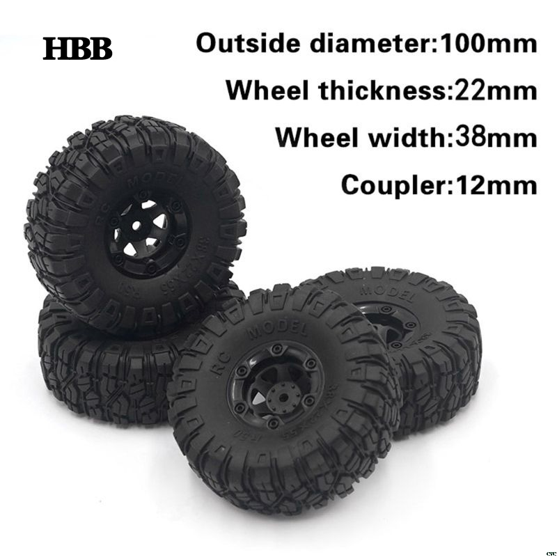 2CPS Upgrade Large Tires for Wltoys 12428/12423 Feiyue 01/02/03/04/05 Q39 Q40 Q46 <font><b>RC</b></font> Car Spare Parts image