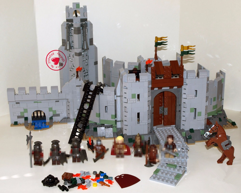 цены New The Lord of the Rings Battle Of Helm' Deep Model Building Blocks Bricks 9474 compatiable legoes gift kid castle boy set toys