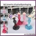 "Dress Mannequin Jewelry Presentation Elegant Earring Necklace Bracelet Chain Holder Stand Jewellery Display Organizer Case 7""(H)"