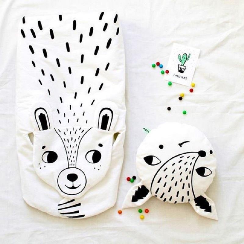 Новый Инс Модная одежда для детей, Детская Мода Дети игры Коврики енот медведь Одеяло Ти ...