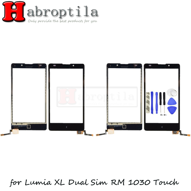 """50Pcs With 3M Tape+Tools 5.0"""" Touchscreen For Nokia XL Dual Sim RM-1030 RM-1042 Touch Screen Digitizer Sensor Outer Glass Panel"""