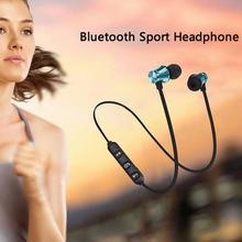 цена на Magnetic In-Ear Stereo Earphone Wireless Bluetooth 4.2 Earpiece For Mobile Phone