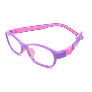 Image 4 - ราคาโรงงานแฟชั่นเด็กซิลิโคนกรอบแว่นตาแสงสกรูไม่มีแตกชายหญิงที่มีห่วงโซ่ขนาด48 15 130 Y1072