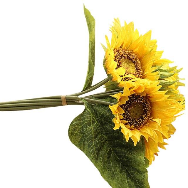 Terbaru Bunga Palsu Buket Bunga Sutra Buatan 7 Kepala Bunga Matahari Taman  Hom e Decor C7731 c2d0d320fb