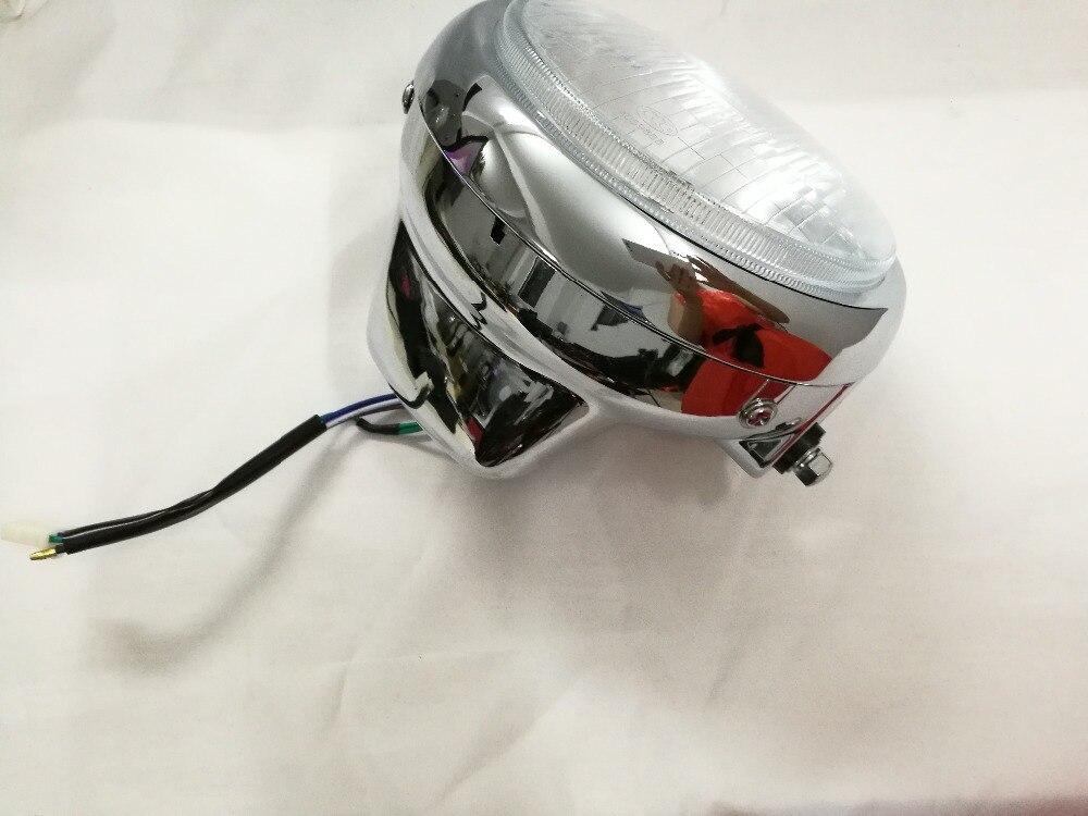 YENI Motosiklet farlar CM150 Far montaj Cam maske Metal krom lamba - Araba Farları - Fotoğraf 2