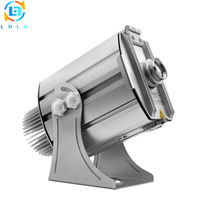 Advertising Small Eight Images 40W LED Gobo Projector Aluminum Alloy Silver IP65 4500lm Outdoor Customized Logo Projector Light