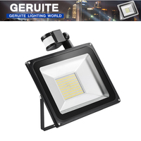 GERUITE Sensor LED Flood Light 100W 220V SMD 5730 Infrared Sensor Floodlights Outdoor Lighting Induction Flood