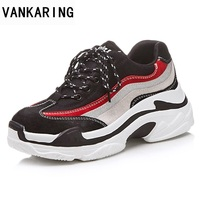 VANKARING Spring Summer Fashion Woemn Casual Flats Shoes Platform Autumn Shoes Woman Patchwork Style Shoes Ladies