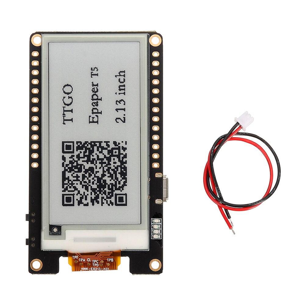 T5 V2.0 WiFi módulo inalámbrico Bluetooth Base ESP-32 2,13 ePaper de pantalla Placa de desarrollo