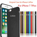 For Apple Logo SE Original Official Silicone Case Cover For iPhone 6 6S Plus 7 Plus Case For iPhone 7Plus for iPhone Capa