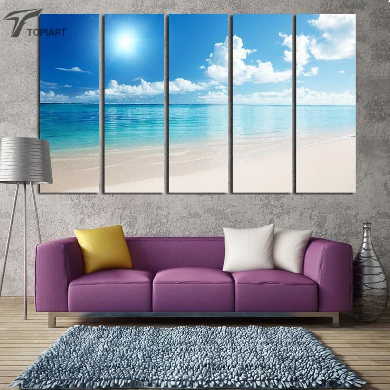 Beach Wall Art online get cheap large canvas wall art beach -aliexpress