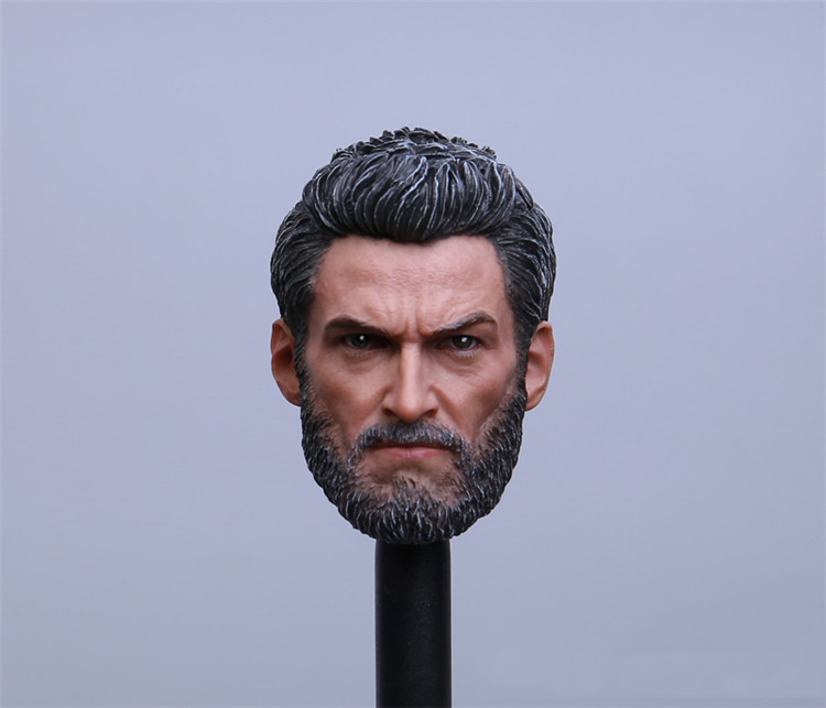 1/6 Head Carved Series Desperate War Wolf Uncle Rogan Hugh Jackman Head Carving Model Fit 12Collectible Doll Toys Accessories пуловер war wolf war wolf wa011emnpv91