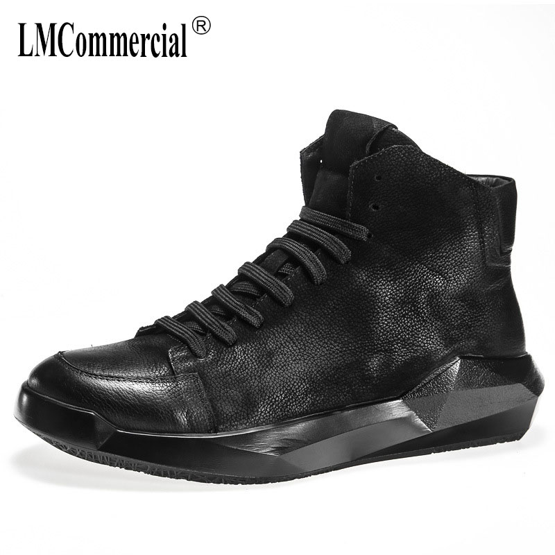 men's leather casual shoes British men boots all-match cowhide British retro breathable sneaker fashion boots male Leisure shoes 2017 new autumn winter british retro zipper leather shoes breathable sneaker fashion boots men casual shoes handmade