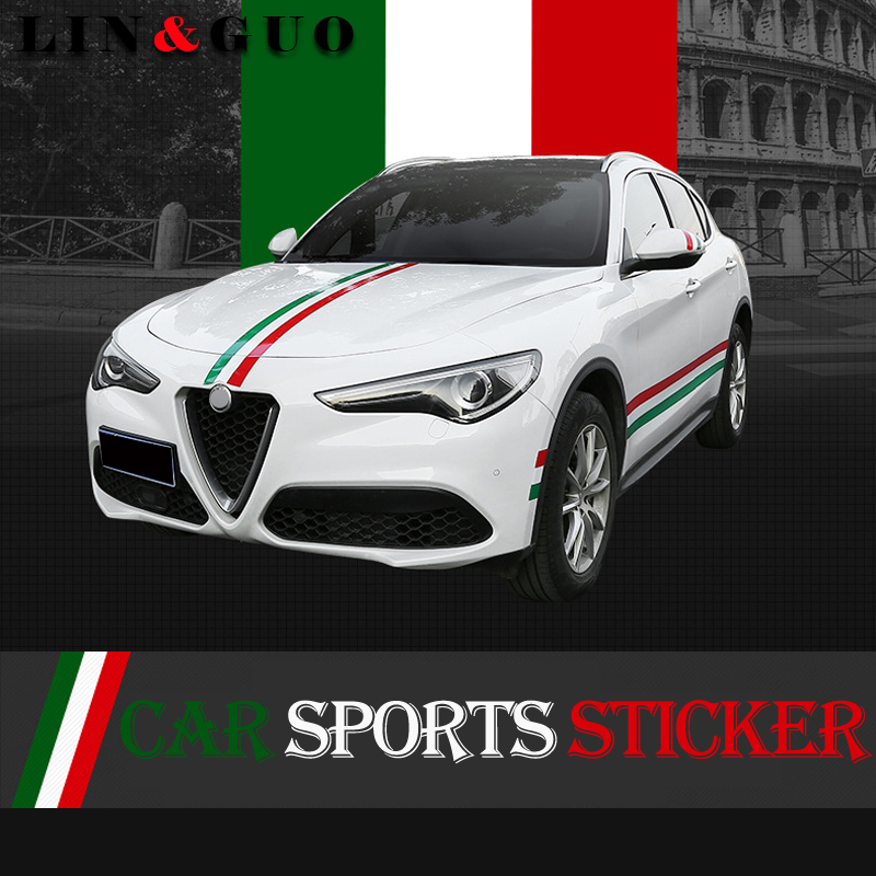 15cm 100cm Newest Auto Decals Italy Badge Sports Sticker For Alfa