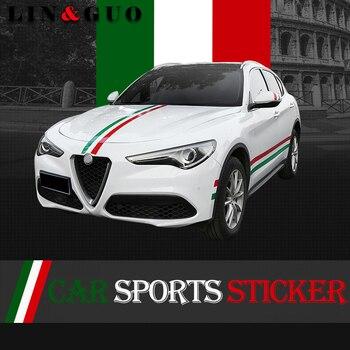 15cm*100cm Newest Auto Decals Italy Badge Sports Sticker for alfa romeo 159 147 156 giulia stelvio147 159 mito car styling front lip for lexus gs350
