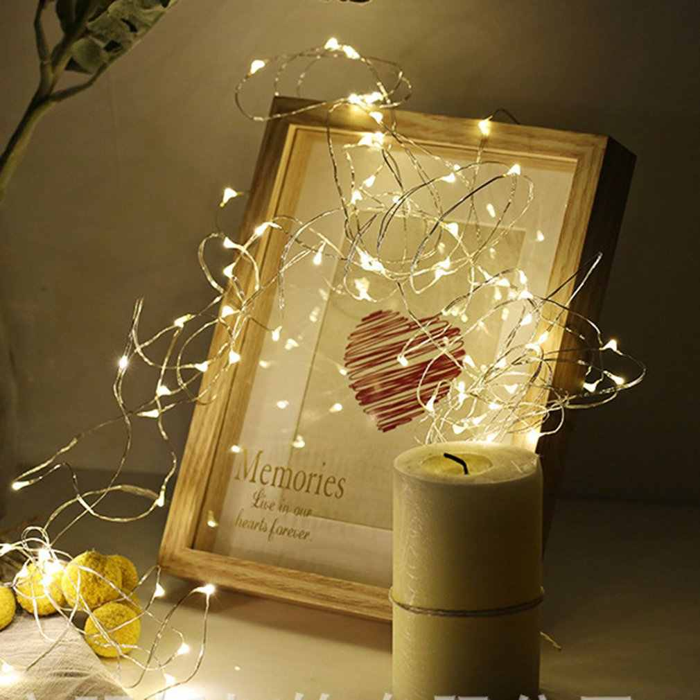 Button Copper Wire Christmas Day Decorative Lantern Led Remote Control Battery Box Lamp Led Fairy lights