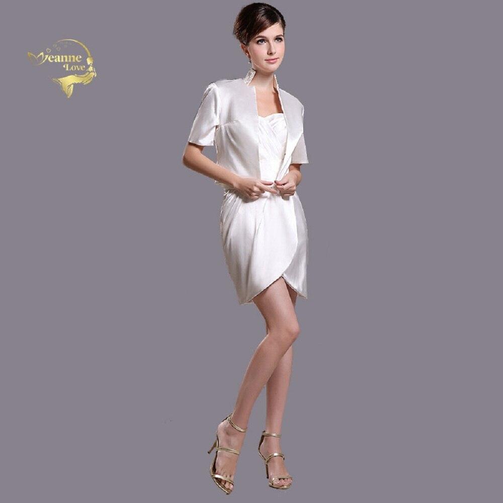 US $75.65 15% OFF Short Mother Of The Bride Dresses Plus Size With Jacket  Short Sleeves Mini Above Knee Godmother Dinner Dress Vestido De Madrinha-in  ...