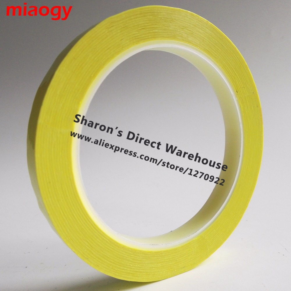 66Meters/roll, 5mm~28mm Wide Adhesive Insulation Mylar Tape for Transformer, Motor, Capacitor, Coil Wrap, Anti-Flame Yellow 2x 14mm 66m 0 06mm pet anti flame high temperature insulation adhesive mylar tape for transformer wrap blue