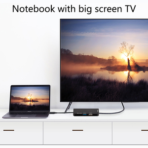 Image 4 - USB C ל usb 3.0 2.0 רכזת HDMI עבור Thunderbolt 3 מתאם עבור MacBook Samsung Galaxy S9 Huawei Mate P20 20 פרו סוג C USB רכזת