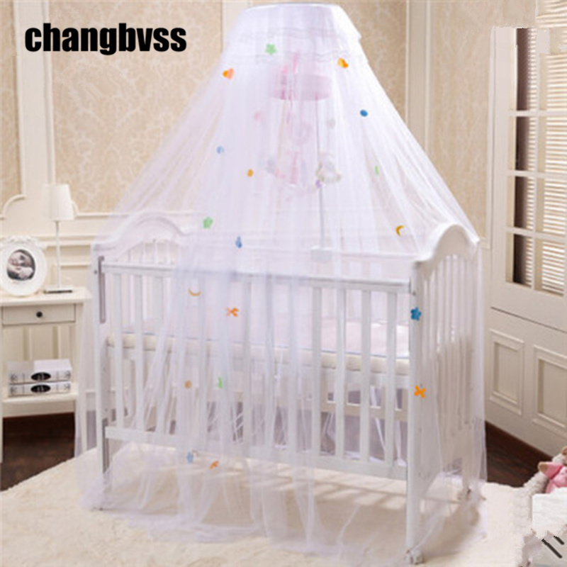 Princess Style  Round Dome Baby Bed Curtain Fine Mesh Baby Crib Netting Baby Mosquito Net Children Room Decoration  moustiquaire baby bed curtain kamimi children room decoration crib netting baby tent cotton hung dome baby mosquito net photography props