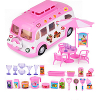 Peppa Pig Doll House Picnic Car Action Figure Diy Toy Family Holiday Day Peppapig Puzzle Birthday Gifts Toys for Children 2P04