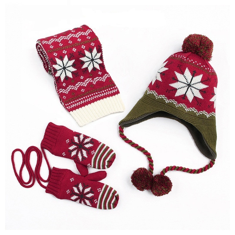 red baby hat scarf set