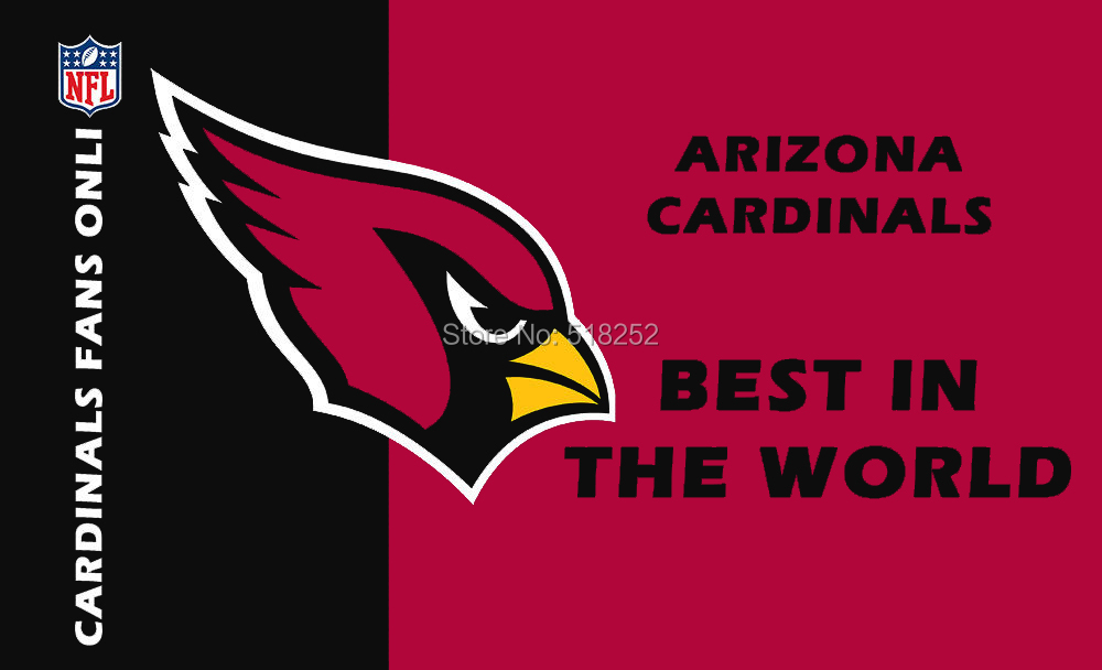 Arizona Cardinals BEST IN THE WORLD New flag Polyester 150X90CM NFL 3x5FT Banner 100D Custom flag grommets 6038,free shipping