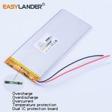 Bateria de Polímero Lítio para China 3543114 Fios Xwd P 3.7 V 2300 Mah de Clone Goophone 5.5 Iphone 6 S Plus Gps Dvr Brinquedos