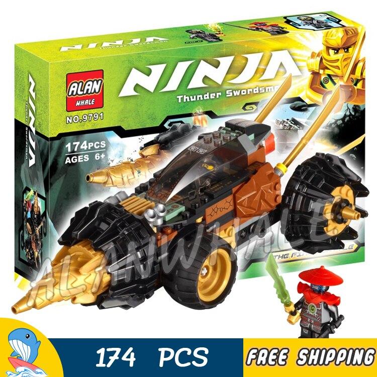 74 pièces Ninja Cole Foreuse de Lord Garmadon 9791 Ensembles de Blocs De Construction Jouets Éducatifs pour enfants Compatible Avec Lago