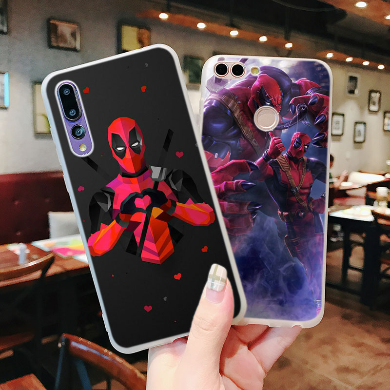 Silicone Phone Case Hero Deadpool Fashion for Huawei P Smart 2019 Plus P30 P20 P10 P9 P8 Lite Mate 20 10 Pro Lite Nova 3i Cover in Fitted Cases from Cellphones Telecommunications