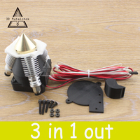 DIY Diamond 3D Printer Extruder Hotend V6 Heatsink 3 IN 1 OUT Brass Multi Color Nozzle