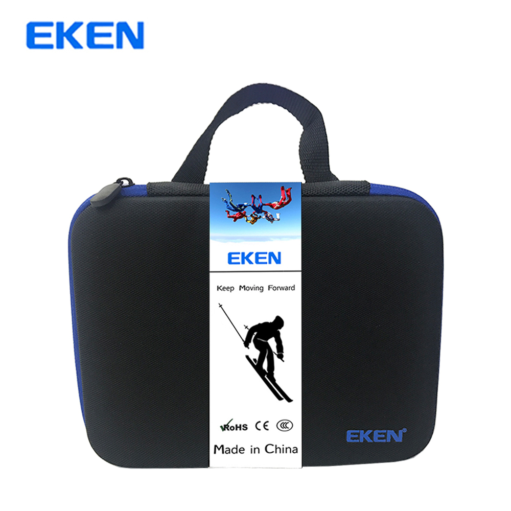 EKEN h9 h9r portable suitcase brand EKEN H9R H8R H6S H5s storage box Go pro Hero 6 5 4 SJCAM SJ4000 tuyu aluminum alloy rugged cage protective case for eken h8r h5s h6s h9r plus v50 gopro hero 4 3 camera with go pro uv lens cap