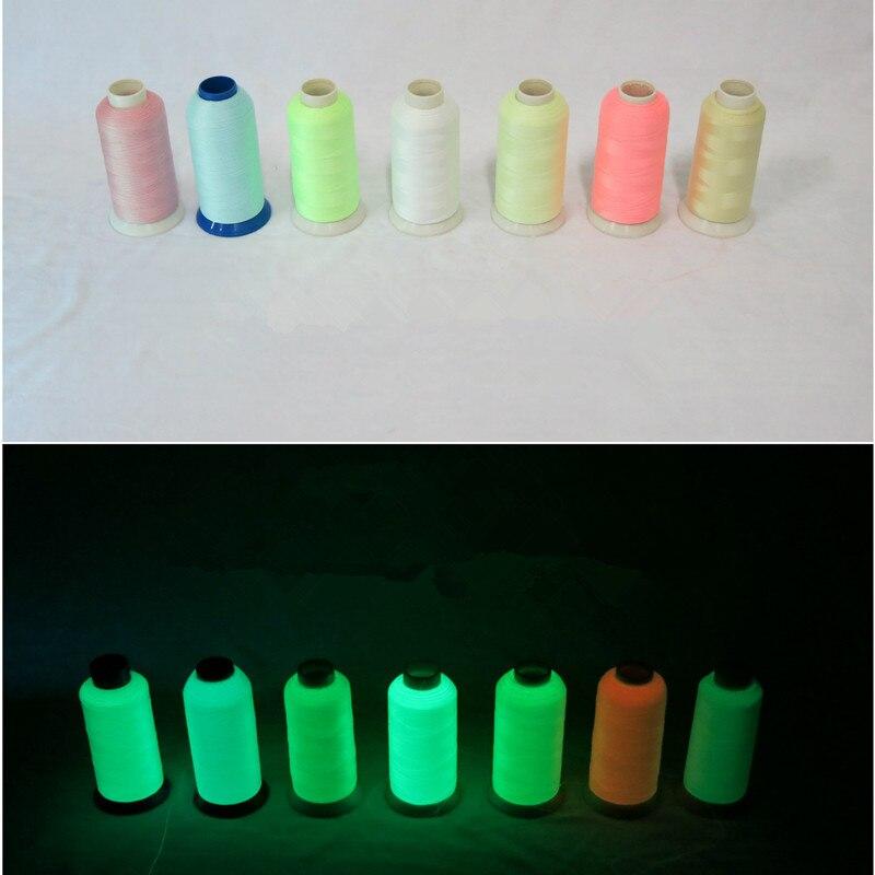 3000 Yards Spool Luminous Glow In The Dark Machine Embroidery Sewing