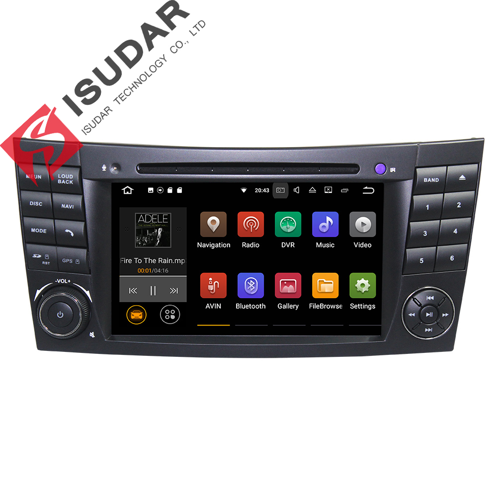 Android 7.1.1! Two Din 7 Inch Car DVD Player For Mercedes/Benz/E-Class/W211/E200/E220/E300/E350 Quad Core Wifi 3G USB GPS Radio 2 din car radio mp5 player universal 7 inch hd bt usb tf fm aux input multimedia radio entertainment with rear view camera