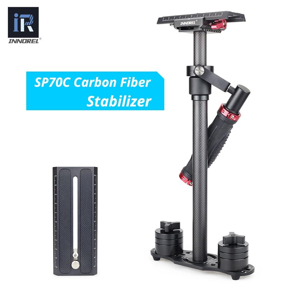 цена SP70C 3KG load handheld carbon fiber video camera stabilizer DSLR video steadicam steadycam for Nikon Canon 5D2 5D3 Sony PK S60