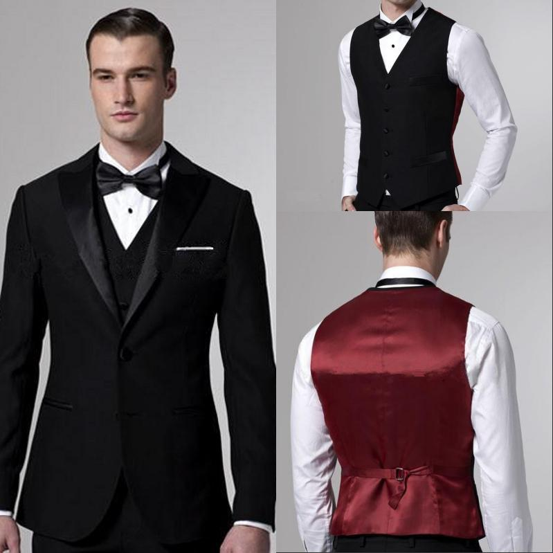 Custom Made Wedding Suit For Men Black Groom Tuxedos Slim Fit Two Ons Best White Blazer Jacket Pants Vest On Aliexpress Alibaba