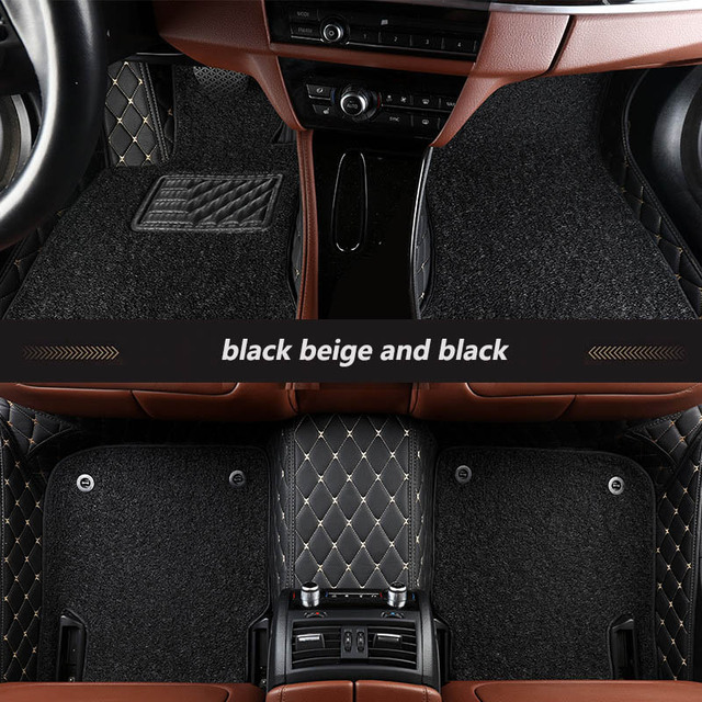 kalaisike Custom car floor mats for Cadillac all models SRX CTS Escalade ATS CT6 SLS XT5 CT6 ATSL XTS auto styling accessories