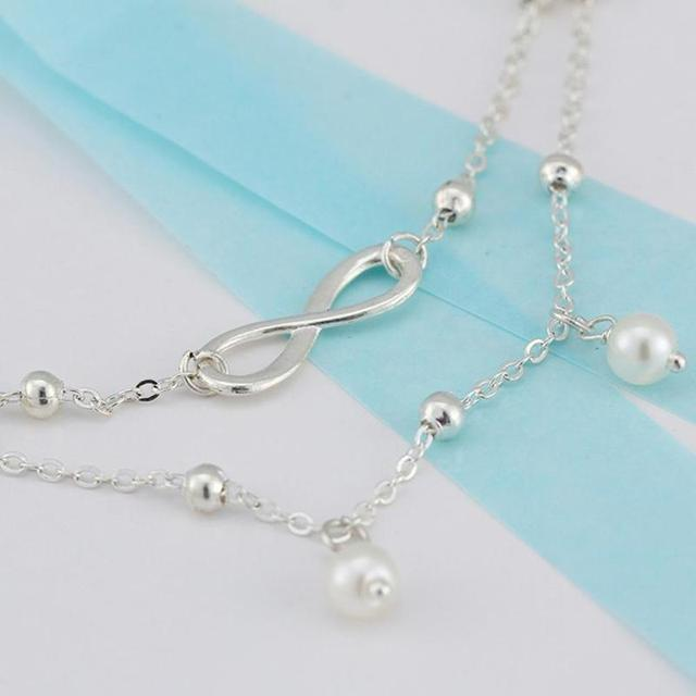Pearl Bead Charms Anklet