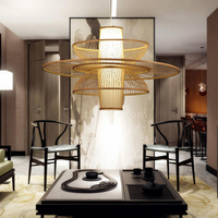 Japanese Bamboo Pastoral Rattan pendant lamp Wooden Restaurant Lighting Bamboo Decorative pendant lights ZL14 ya73