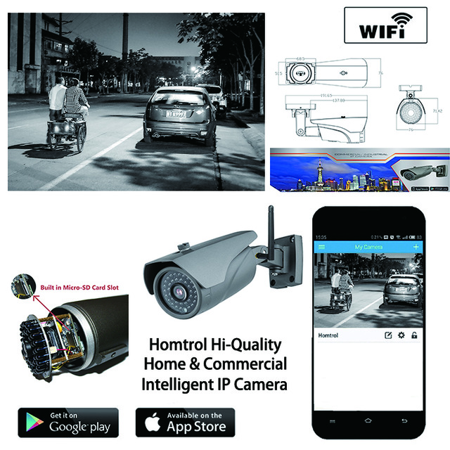 720P 1.0MP Family Mini Security Camera Bullet IP Camera WiFi ONVIF 2.0 indoor IR CUT Night Vision P2P Plug and Play