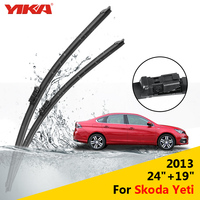 YIKA 24 19 For Skoda Yeti 2013 Janitors For Cars Glass Rubber Windshield Wiper Blades ISO9001