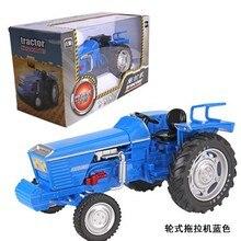 1:18 Масштаб Синий сельскохозяйственный трактор используется колесо сплава Модель автомобиля детские игрушки