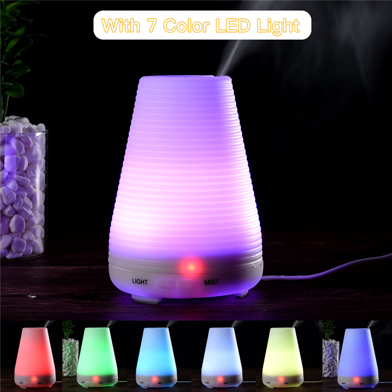 100Ml Mini Essential Oil Aroma Diffuser Electric Ultrasonic Humidifier Household Air Purifier Office Yoga Room Aromatherapy 31