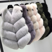 FURSARCAR 6 Colors Real Natrual Fox Fur Vest Women Winter Coat 2019 New Style Thick Short Fur Waistcoat Fashion Real Fur Gilet