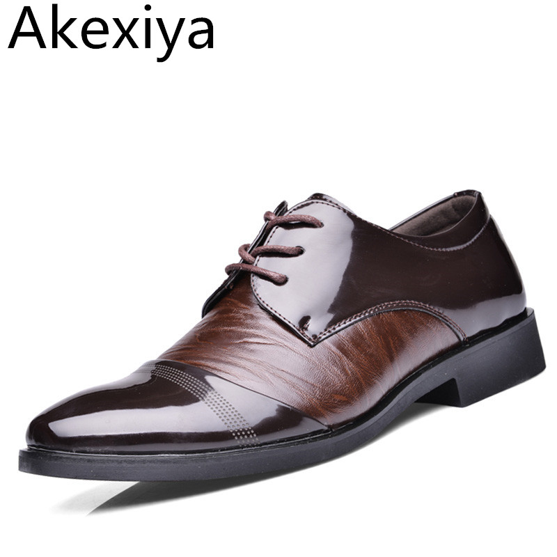 Avocado Store Akexiya 2017 New Brand Oxford Shoes For Men Dress Shoes Leather Office men Flats Shoes Height Increasing Zapatos Hombre