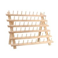 60 Spool Wooden Thread Rack And Organizer For Sewing Quilting Embroidery