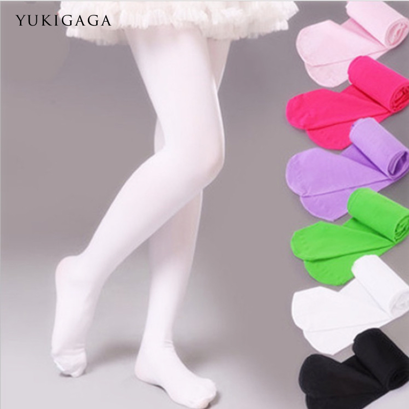 Yukigaga Fashion Nude Black White Footless Kid Tights Nylon Leggings Girls Children Ballet Dance Pantyhose C25c