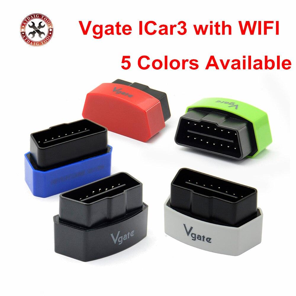 Prix pour [Véritable] vgate icar 3 elm327 wifi obd2 diagnostic scanner pour android ios iphone ipad vgate icar3 wifi le plus bas prix