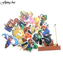 Flyingbee 29 Pcs 게임 Bros 방수 스티커 어린이 장난감 스티커 DIY 수하물 노트북 스케이트 보드 자동차 전화 장식 X0040