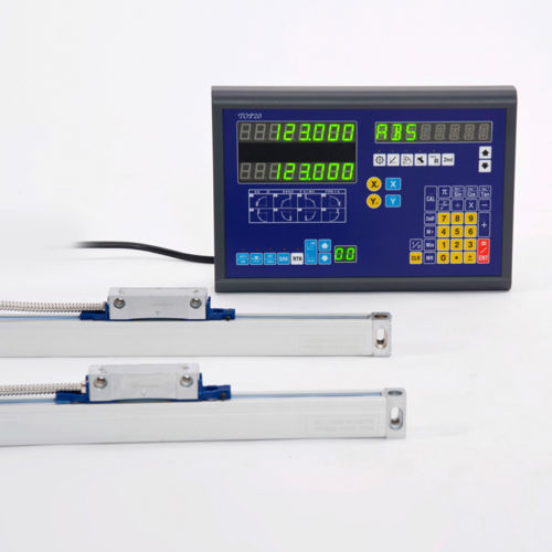 BIGA 2 Axis DRO Digital Readout With Linear Encoder Linear Scale For Mill Milling Machine